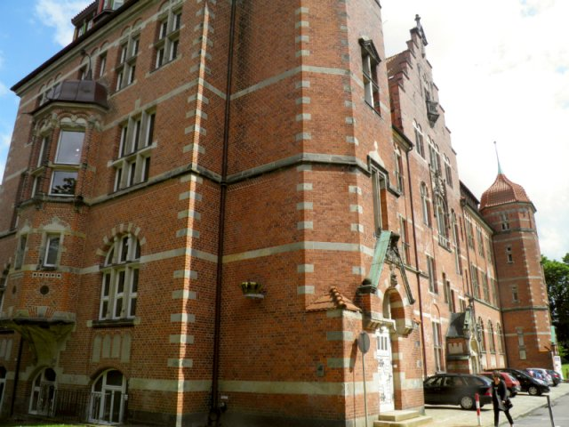 Brick building in Flensburg