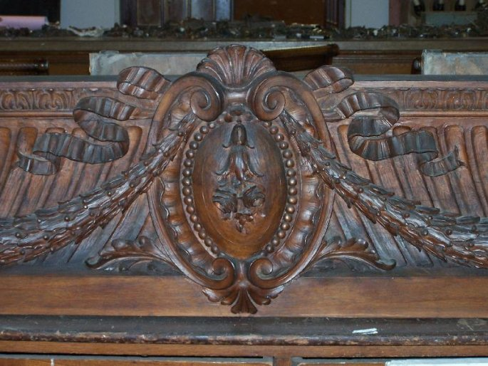 Amazing Carved Walnut Pediment