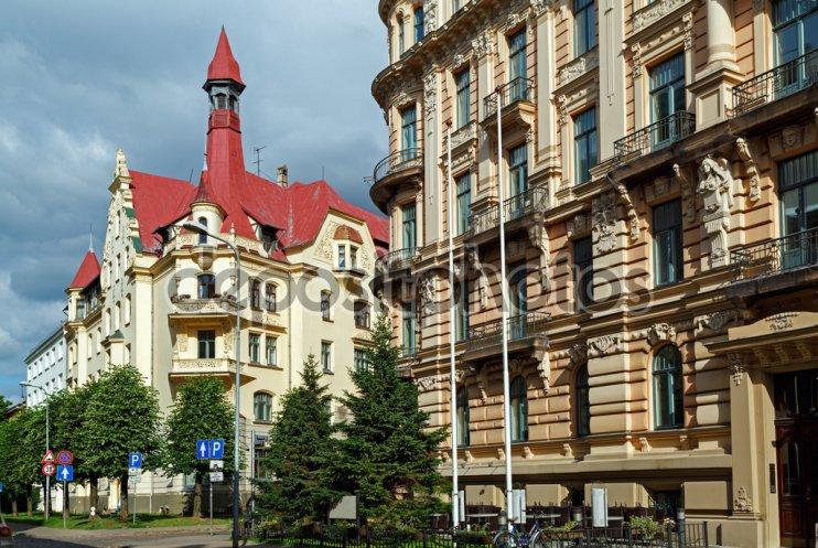 Old buildings in Art Nouveau