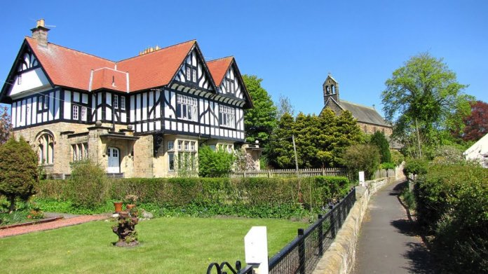 Elizabethan style house and