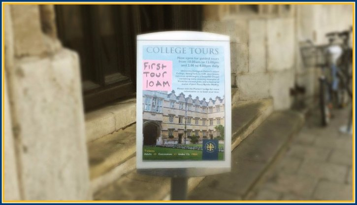 Fancy a tour of Oxford s
