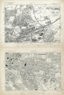 1938 Ordnance Survey Special Emergency Edition Lanarkshire Sheets VI NE and VI SE, Originals available to consult from Level 7 Maps C18:27 12