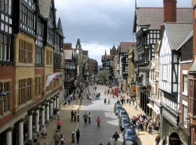 Chester city, England