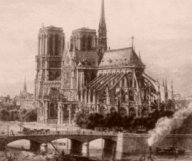 Earthlore Explorations Gothc Dreams: Nineteenth century engraving of Notre Dame de Paris