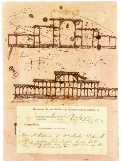 First sketch for the Great Exhibition Building by Sir Joseph Paxton. © Victoria and Albert Museum, London