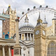 Famous landmarks in London England
